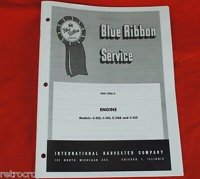 GSS-1295 IH Engine Service Manual C-124 C-135 -C153 Farmall 140 240 404 504 Gas