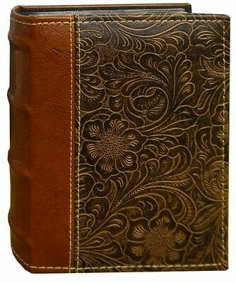 Photo Album Organizer Book 100-Pocket Scroll Embossed Leatherette Cover
