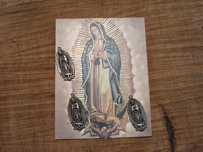 MIlagro Virgen Mary Set Of 10 Milagros Charms Ex Votos Antiqued Silver Virgin