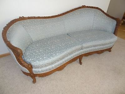 Parlor Sofa From 1800's; Heavily Carved; Unique