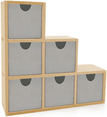"""Beyond The Page MDF Bookend Drawers 9.5""""X9.5""""X2.75"""" SB2089"""