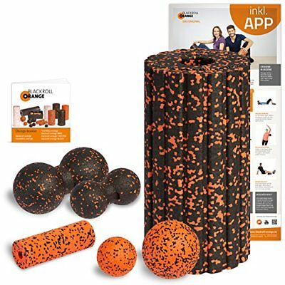 Blackroll Orange (L'originale) Il rullo per automassaggio - Set completo (x2K)