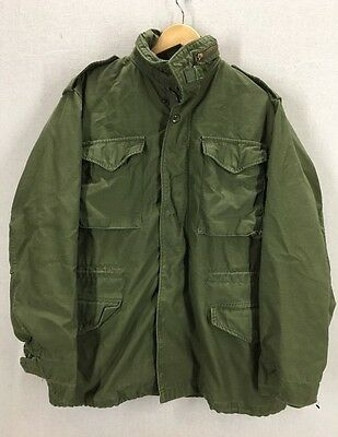 Vintage 1974 Alpha Industries M65 Military Field Jacket Sz Medium Long