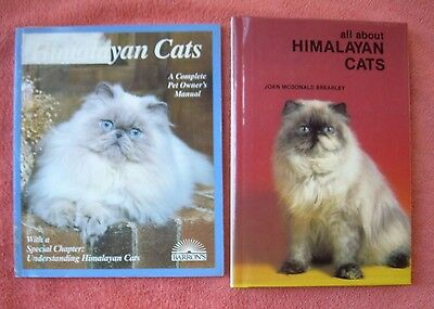 lot of 2 Himalayan Cat Books Pet Owner's Manual Longhair Kitty Care