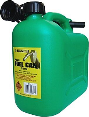 S Style Unleaded Petrol Can & Spout Green 5 Litre (d8U)