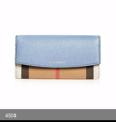 c3025b35a3ac BURBERRY BLUE LEATHER Wallet -  18.27