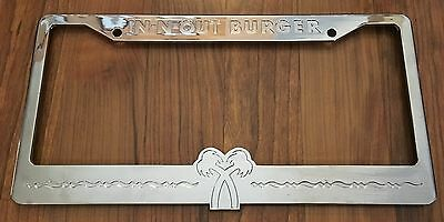 Vintage In-N-Out Burger Chrome License Plate Frame-Associate/Employee Gift