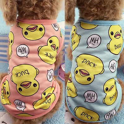 Duck Small Dog Puppy Vest T-Shirt Pet Dog Cat Clothes Summer Apparel Costumes