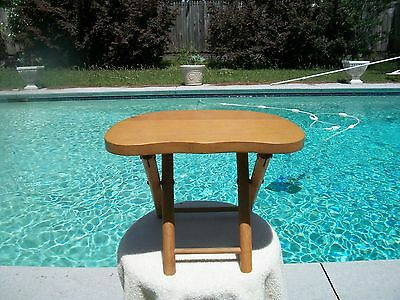 Vintage Mid Century Nevco Wooden Folding Child's Stool Yugoslavia