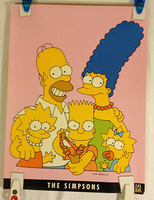 The Simpsons promotional Poster 1990 Fox Broadcastig Co. 18 X 24 Rare