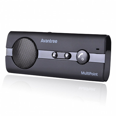 Avantree Kit Vivavoce Bluetooth per Auto 4.0 Multipunto con Supporto per Aletta