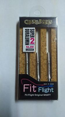 COSMO FIT SUPER DURALUMIN SLIM LOCKED #2 SHAFTS 18mm  FOR FIT FLIGHTS ONLY