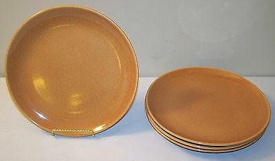 """Russel Wright Iroquois Casual China Ripe Apricot Dinner Plate - 10"""" - Lot of 4"""