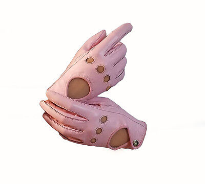 Pink Sheep skin leather driving gloves for Women
