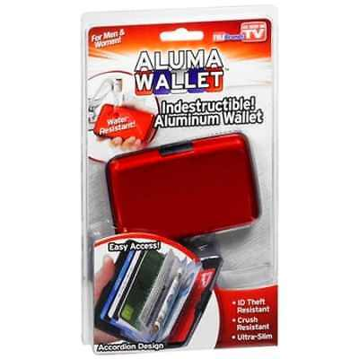 Aluma Wallet Red Credit Card Holder RFID Protection ( Ships from USA Seller )
