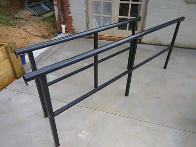 Cafe/ outdoor area barriers black.