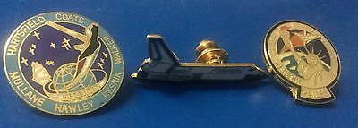 NASA Space Shuttle Mission pin lot of  3 pins  new condition