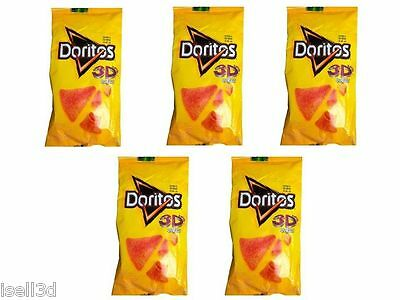 Doritos 3D queso Mexican chips Mexico Sabritas 5 Pack + Free Stricker