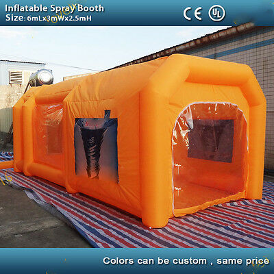 Certified Portable Inflatable Paint Booth Tent Giant Car Spray Booth Custom Made
