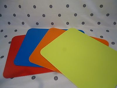 Tupperware Flexible Cutting Mats Chopping Boards Set of 4 New!