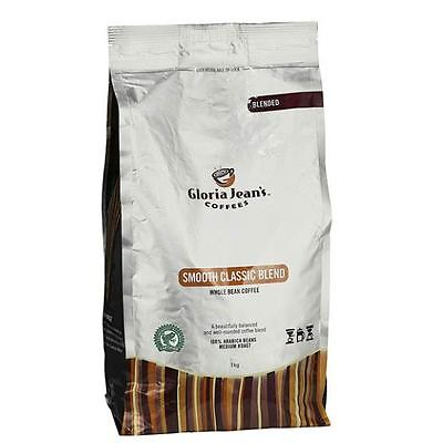 1kg Gloria Jeans Coffees Smooth Classic Blend Whole Bean Coffee NEW