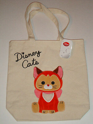 Disney Japan Dinah Plush Canvas Tote Bag Alice In Wonderland Purse Eco Shopper
