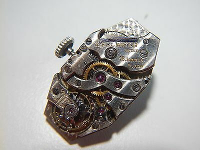 Antique EBEL Watch Movement 18 Jewels 24.50MM x 13.50mm Possibly Patek Made 1920