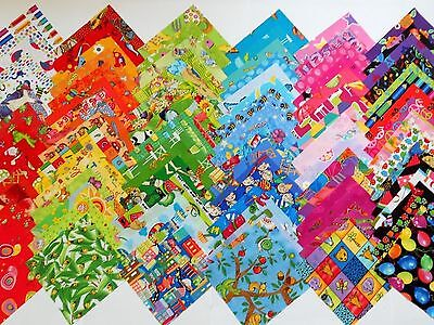 90 Kids GIRLS Novelty Cotton Quilt Patchwork Fabric Squares I SPY MULTI-COLOURED
