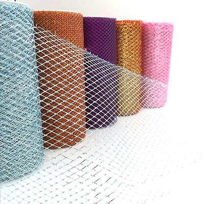 2016 Mesh Netting Ribbon Deco 15cmx10yd Roll Craft Wreaths Colors Pick Party TV