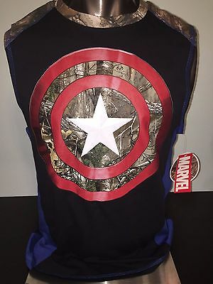 CAPTAIN AMERICA Avengers Endgame movie REALTREE MENS Tank Top SLEEVELESS T-Shirt