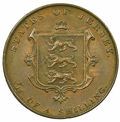 Jersey, Victoria 1/13Th Shilling, Channel Islands, 1841