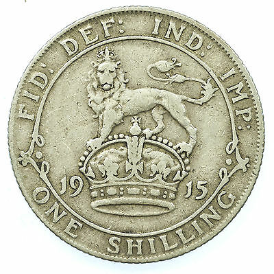 Great Britain, George V Shilling, Silver, 1915