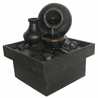 Zen Luce SCFR PF7 Pot interni Fontaine marrone / nero 13 x 13 x 15 cm (k9t)