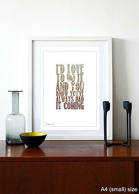 THE STONE ROSES ❤ Shoot You Down ❤ lyrics poster art edition print in 5sizes #20