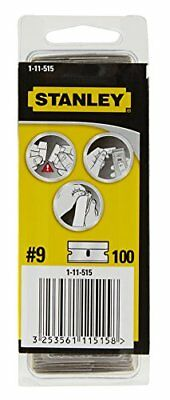 Stanley 1-11-515 - Set di lame in metallo per gratta-vetri, 100 pz. (q7z)