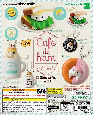 Cafe de ham Sweet Figurine 6pcs set Gashapon EPOCH Japan