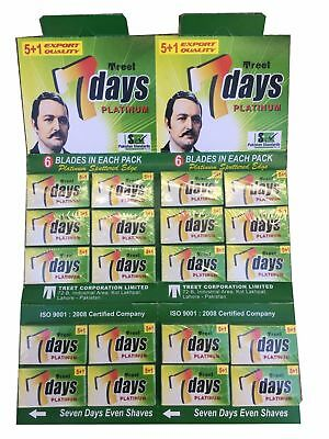 100 Treet 7 Days double edge razor blades