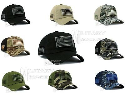 Tactical Operator With USA Flag Patch Micro Profile Mesh Military Cap Hat