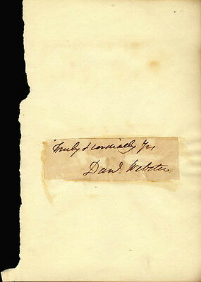 Daniel Webster - Autograph Sentiment Signed