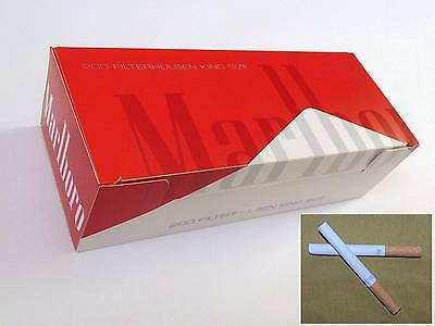 200 x5= 1000 NEW Marlboro Red King size cigarette papers tubes with 15mm filter