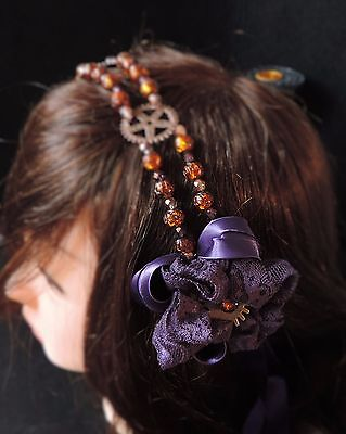 "Headband steampunk ""Fall in Fire"""