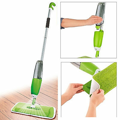 700Ml Spray Mop Water Spraying Floor Cleaner Tiles Microfibre Marble Kitchen