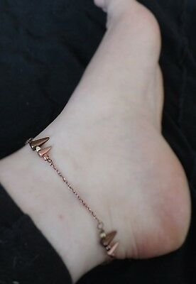 "Bracelet de cheville ""Copper and Gold"""