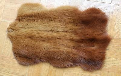 """13"""" long Animal Shaped, Natural Red Genuine Mink Fur Rug for DollHouse~dimitha"""