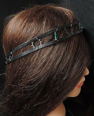 Headband inspiration steampunk en cuir
