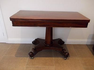 Antique William Iv Mahogany Tea Table