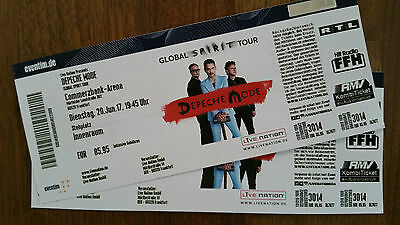 depeche mode 2017 global spirit tour frankfurt 3 karten stehplatz eur 222 54. Black Bedroom Furniture Sets. Home Design Ideas