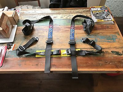 Pair of Classic Retro Sparco 4 Point Harnesses (Sold as set of 2)