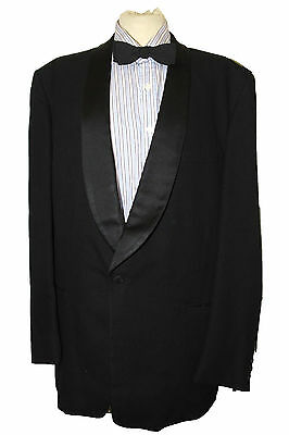 """TUXEDO DINNER JACKET 40"""" BLACK  Made in England VINTAGE SUMRIE TAILORED"""