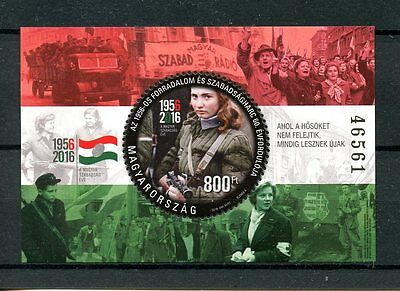 Hungary 2016 MNH 1956 Hungarian Revolution & Freedom Fight 60th 1v M/S Stamps